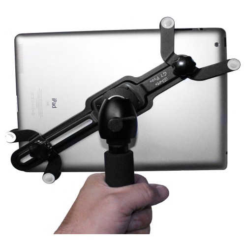 G7 Pro iPad Tripod Mount  + 8 inch Tripod Adapter Pole with 360° Swivel Ball Head - For iPad 123456, iPad Air, Mini, Pro 9.7 / 10.5
